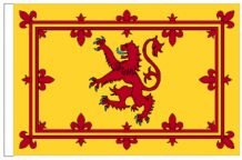 "Scotland Lion Rampant 18"" x 12"" (45cm x 30cm) Sleeved Boat Flag"